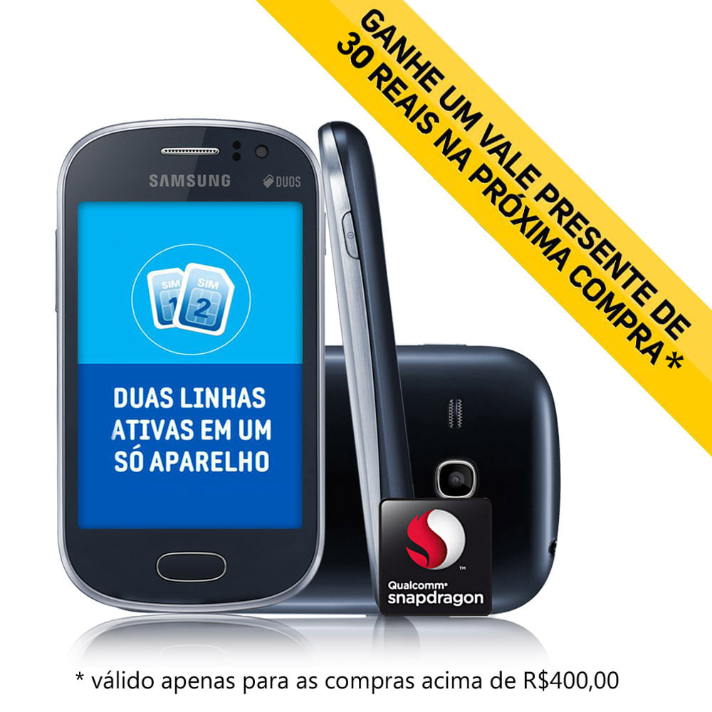 Samsung Galaxy Fame Duos S6812 Branco 3g Processador 1ghz Android 4