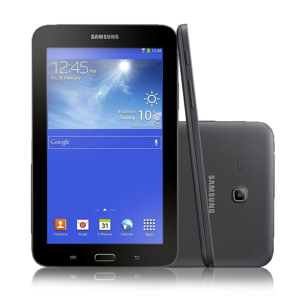 Tablet Samsung T111 3G Preto Wi - Fi Android 4.2 Mémoria de 8GB Câmera de 2.0MP Processador Dual Core 1.2GHz GPS