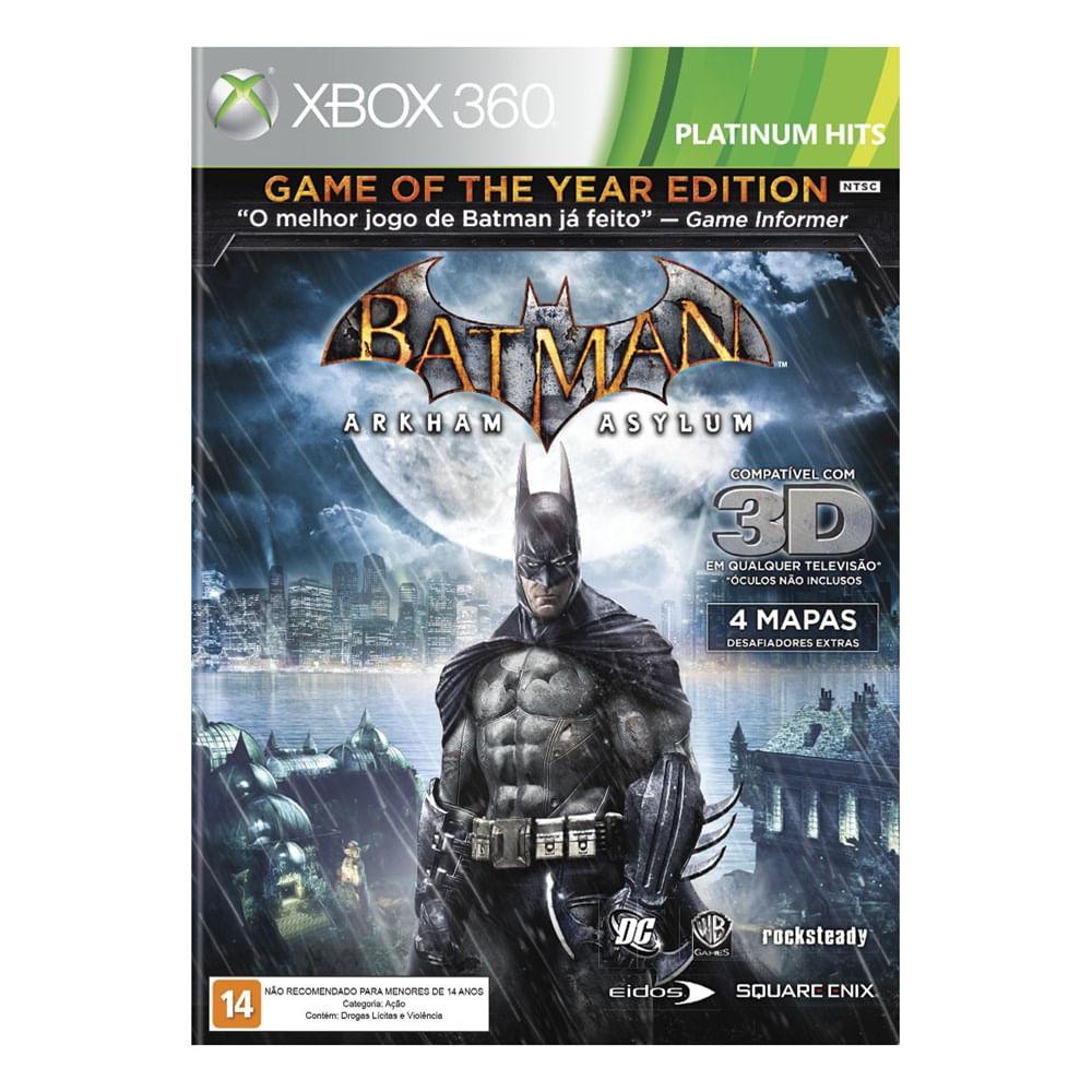 Jogo Batman: Arkham Asylum - Xbox 360 - Warner Bros Interactive Entertainment
