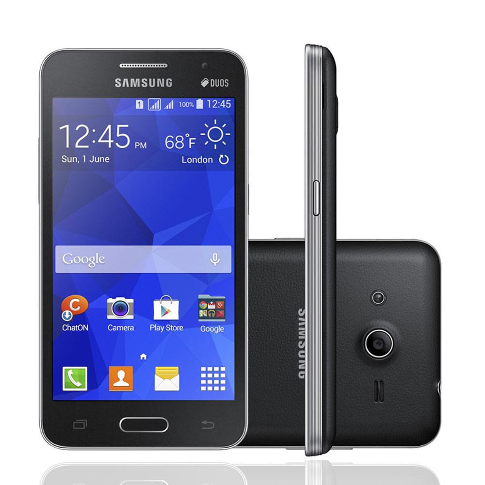Smartphone Samsung Galaxy Ace 4 Lite Duos G313M Preto, Dual Chip, Android 4.4, Tela de 4 ´ , 3G, Wi - fi, GPS, Memória 4GB