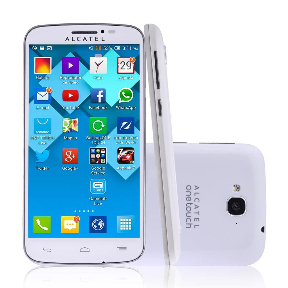 Smartphone Pop C7 Dual Chip Branco Android 4.2 Tela 5 3G WiFi Câmera 5MP Memória 4GB
