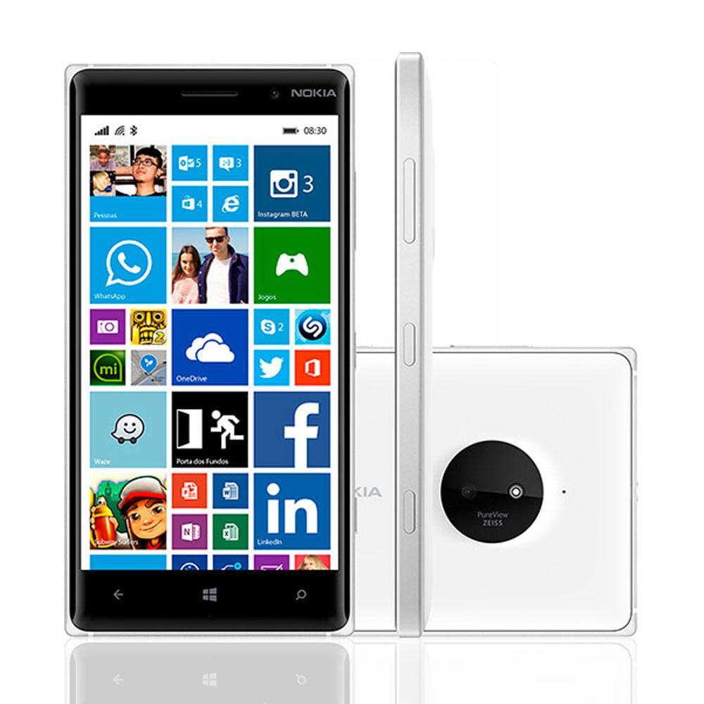Smartphone Desbloqueado Nokia Lumia 830 Branco Windows 8.1 Tela 5 ´ Memória Interna 16GB Wi - Fi Câmera 10MP