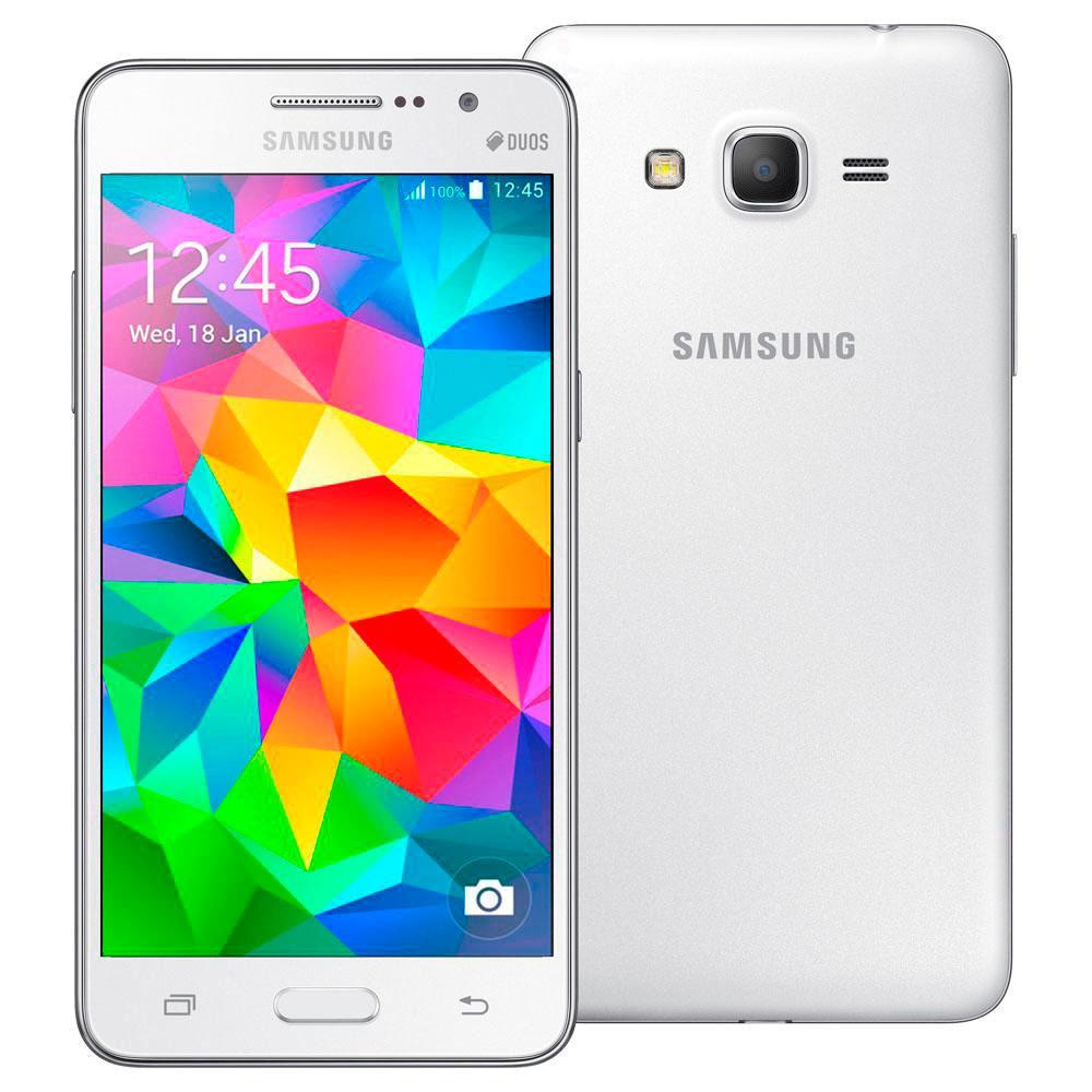 Smartphone Samsung Galaxy Gran Prime Duos G531H / DL Branco - Smatphone Samsung Galaxy Gran Prime Duos G531H / DL Branco, Android 4.4, Câmera 8.0 MP, Memória 8GB, Processador Quad - Core 1.2 GHz,