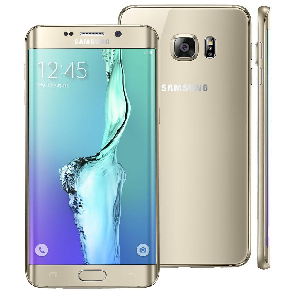 Smartphone Desbloqueado Samsung Galaxy S6 Edge Dourado Plus - Smartphone Desbloqueado Samsung Galaxy S6 Edge + Dourado, Android 5.1, 32GB, Tela 5.7, Câmera 16MP com Flash LED, Processador Octa - Core ( Quad 2.1 + Quad 1.5