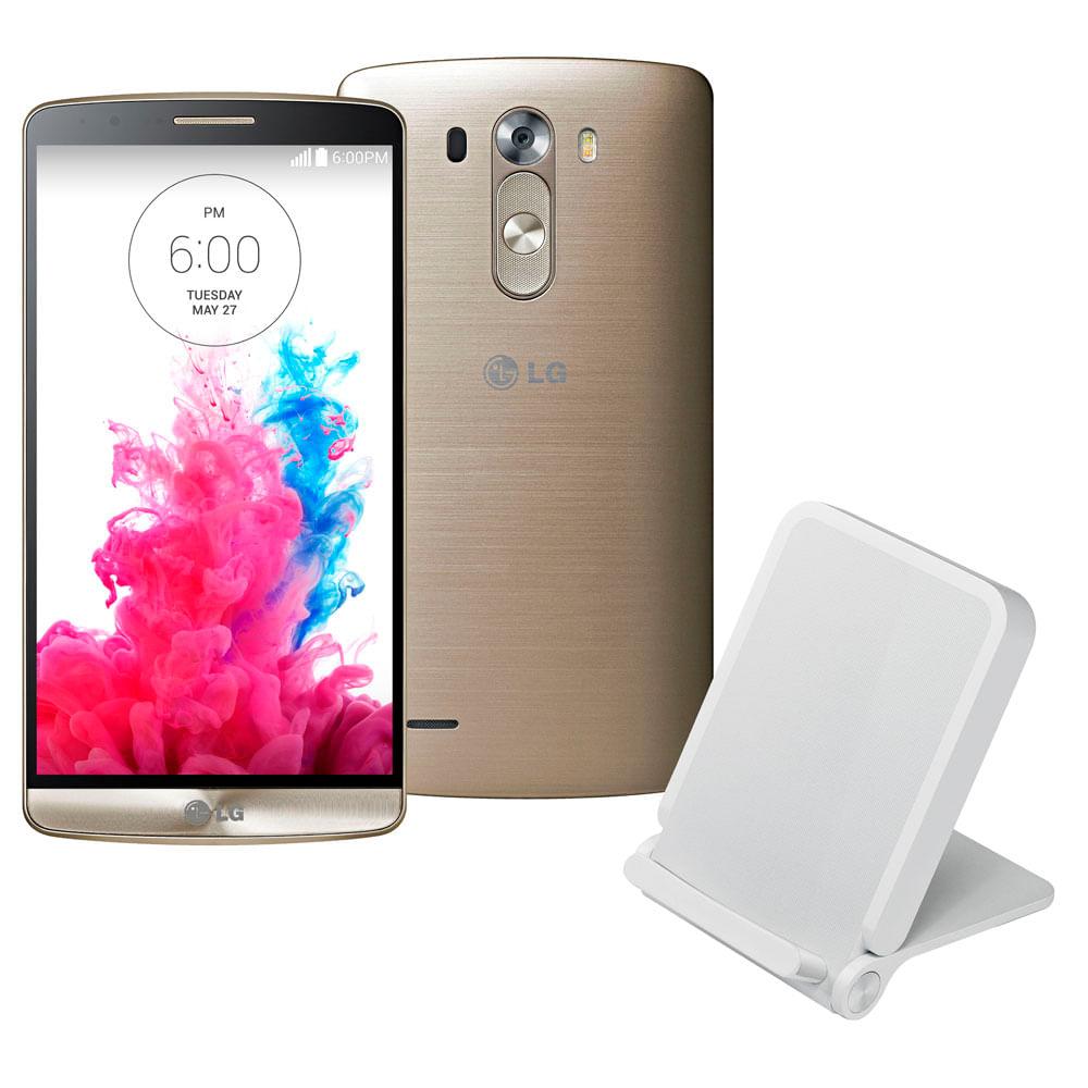 Smartphone Desbloqueado LG G3 D855 Dourado - Smartphone Desbloqueado LG G3 D855, Dourado, Tela de 5.5, Android 4.4, Câmera 13MP, 3G e Processador Quad Core 1.3GHz