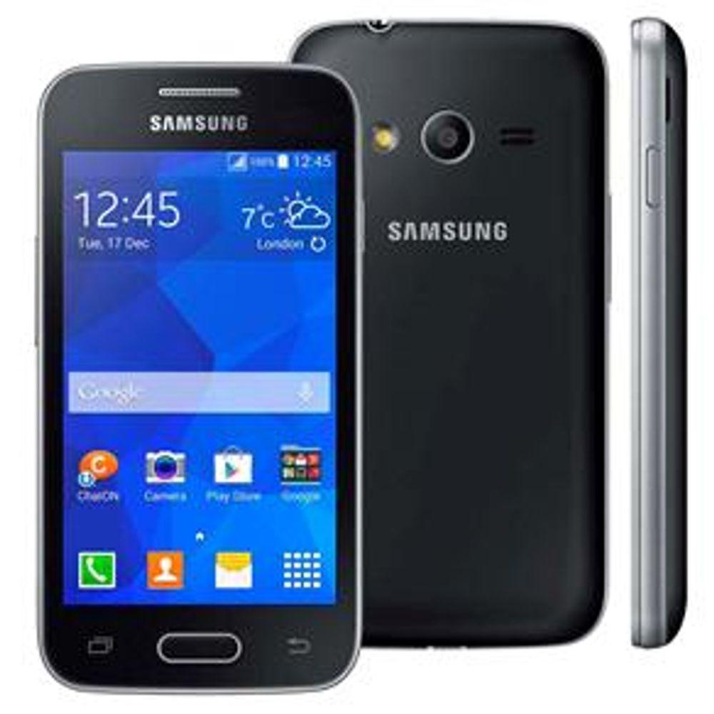 Smartphone Samsung Galaxy Ace 4 Neo Duos Preto - Smartphone Desbloqueado Samsung Galaxy Ace 4 Neo Duos, Preto, Android 4.4, Tela 4 ´ , 4GB, Câmera 3MP, Processador 1.2 GHZ