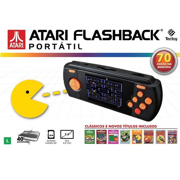 Videogame Atari Flashback Portátil com 70 jogos na memória