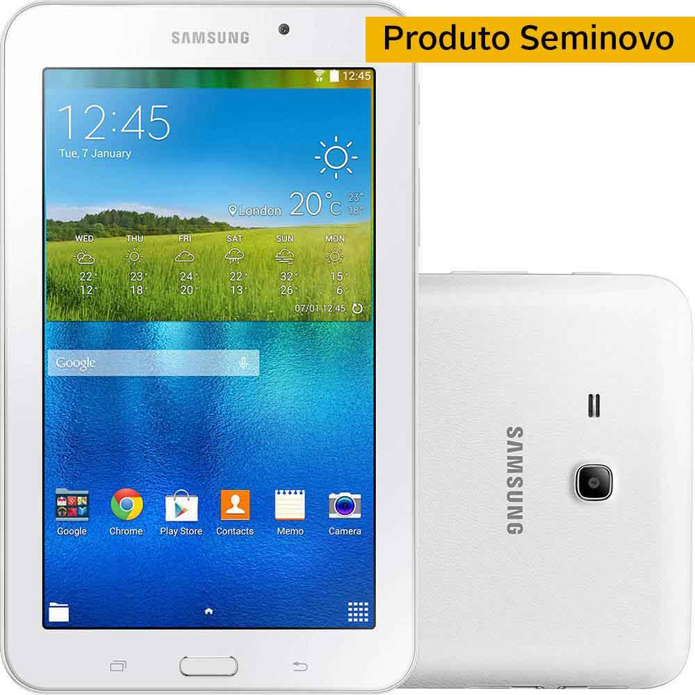 20174757166 Seminovo Tablet Samsung T113 Galaxy TAB E Branco 8 GB Tela 7