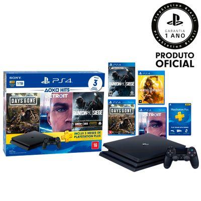 PS4---Console-Playstation-4-1TB-Hits-Bundle-5---3-Jogos---Jogo-Mortal-Kombat-11--1-