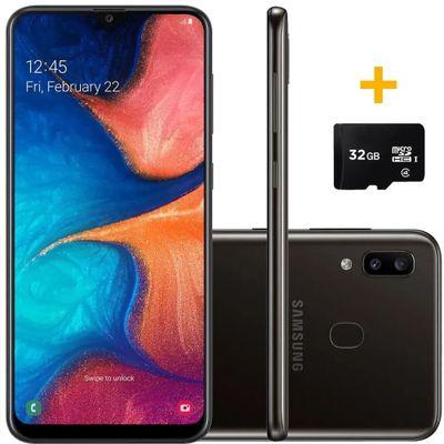SMARTPHONE-SAMSUNG-A205-GALAXY-A20-PRETO