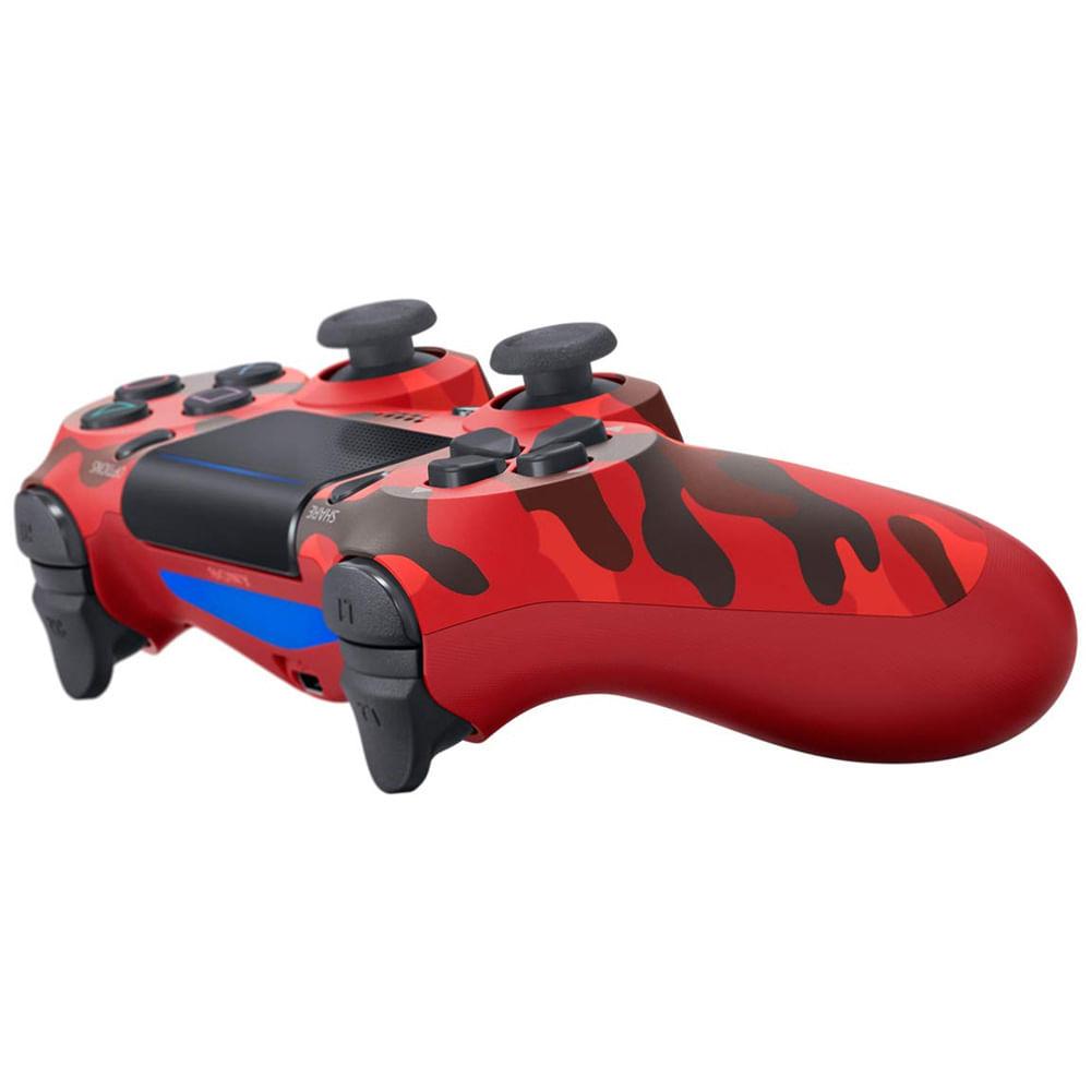 Controle Playstation Dualshock 4 Vermelho Camuflado - PS4 - 2018 ...