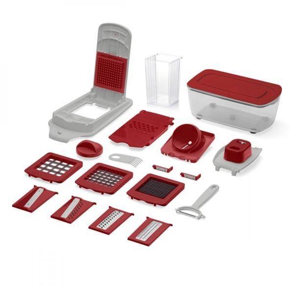 kit-cortador-de-alimentos-multilaser-ud005-21-pecas-descascador-ralador-corte-quadrado-e-espiral-up-home-branco-vermelho-1