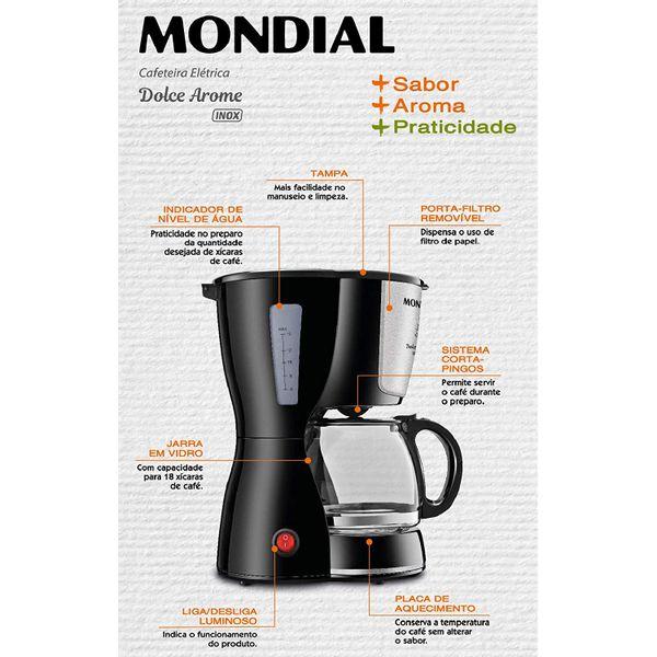 cafeteira-eletrica-dolce-arome-mondial-c-30-18-x-preto-inox-127v-3